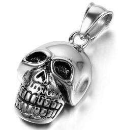 Now available in our store Stainless Steel S.... Check it out here! http://everythingskull.com/products/stainless-steel-skull-pendant-necklace-with-55cm-chain?utm_campaign=social_autopilot&utm_source=pin&utm_medium=pin