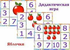 Цель: умение соотносить количество с цифрой, согласование существительного с числительным