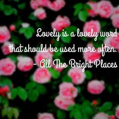 Lovely <3 #AlltheBrightPlaces