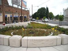 Portland has been building stormwater planters for years. These photos show both urban and suburban design approaches. After years of experience, Portland designers are realizing that stormwater facilities can be much less massive than they originally thought. How does that change how we will design stormwater planters in the future?