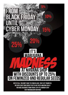 Nirvana Seeds Black Friday Special!!!