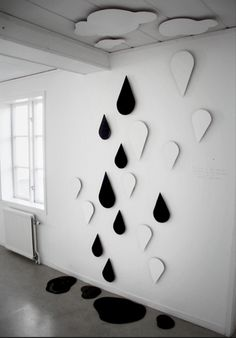 raindrop art...this would make me happy when skies are grey