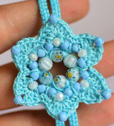 Crochet and Macrame Jewelry Blue Flower Bracelet | Etsy Crochet Jewellery, Macrame Jewelry, Crochet Necklace, Unique Bracelets, Handmade Bracelets, Handmade Jewelry, Flower Ball, Flower Bracelet, Crochet Flowers