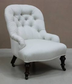 Beau Victorian Bedroom Chair. Plush And Soft.