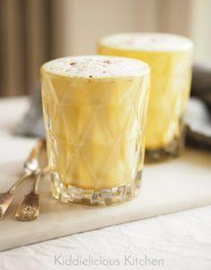 Healing turmeric chai latte with ginger, cinnamon and cardamom