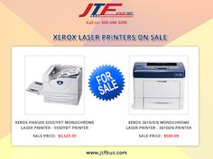 #JTFBusinessSystems is offering Xerox laser printers on sale now. It is a robust, highly reliable and economical printer. This high-performance #XeroxLaserPrinters has a maximum input capacity of 800 sheets.