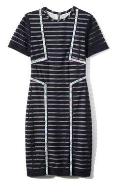 Yigal Azrouel Tech Sheer Stripe Dress $750