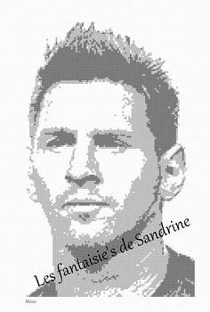 Grille point de croix Messi : Broderie par les-fantaisie-s-de-sandrine