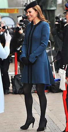 Kate Middleton's Best Maternity Outfits - Navy Gazing from #InStyle