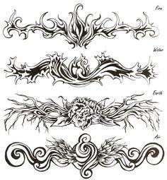 Elemental Tattoos by shinigami714.deviantart.com on @deviantART