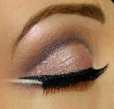 shimmery plum and pink shadow