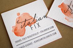 Oh, dear. This is the prettiest business card ever. Letterpress, watercolour, handwriting, all rolled into one lovely package.