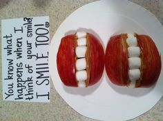 Snack for the kids- Made by Amanda Trollinger, who always comes up with such creative ideas to show her kids love!