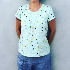 Another one for my new collection of bold prints. #scouttee #artgalleryfabrics #morningwalkmorningwalk,scouttee,artgalleryfabricsDamiana Diaz Reck