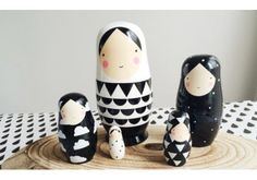 Shop online our Psikhouvanjou black and white nesting dolls – Find our modern kids toys Kitsch, Modern Kids Toys, Baby Boy Toys, Doll Painting, Pillow Room, Kokeshi Dolls, Toy Store, My Little Girl, Diy For Kids