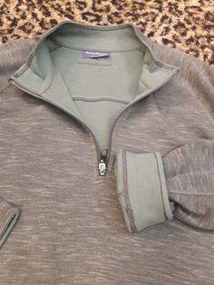 Tommy Bahama T216027 Flip Side Abaco Reversible Sweatshirt Gray Green NEW XL HOT #TommyBahama #12Zip