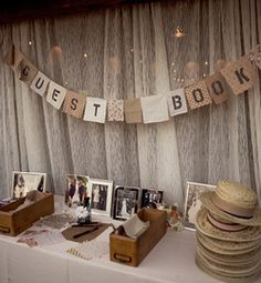Guest Book Table | Wedding Guest Book Table Ideas