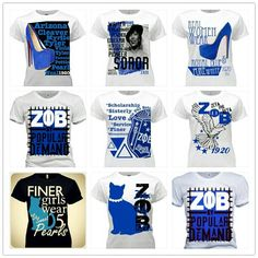 Zeta Phi Beta t-shirts