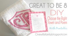 CTR Towel Tutorial With Poem and Printable