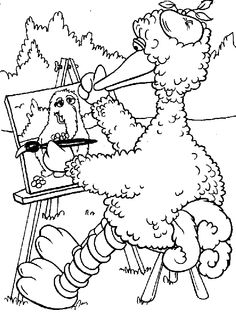 Sesame Street Printable Coloring Sheets