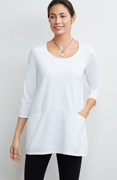 Pure Jill curved-seam tunic