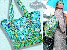 Happy Holidays with FreeSpirit & Rowan: All-Weather Tote in Amy Butler's Alchemy Laminate | Sew4Home