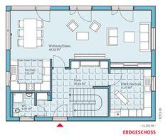 Grundriss-EG, Energiesparhaus Vita 165, 82,87 m²