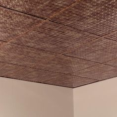 Fasade Diamond Plate - 2 ft. x 2 ft. Revealed Edge Lay-in Ceiling Tile in Bermuda Bronze-L66-17 - The Home Depot