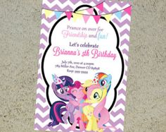 Printable My Little Pony Birthday Invitation - My Little Pony Invitation - My Little Pony Invite