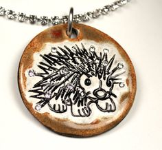 Hedgehog Sparkle Surly Necklace with Swarovski Crystals by surly, $48.00