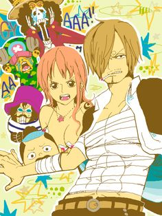 Zou - Sanji, Nami, Tony Tony Chopper, Brook, Caesar Clown, Momonosuke One piece