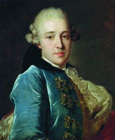 РОКОТОВ ФЕДОР СТЕПАНОВИЧ (1735—1808) «Портрет князя Дмитрия Михайловича Голицына» 1760-е