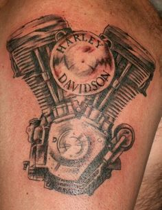 Harley-Davidson Engine Tattoo