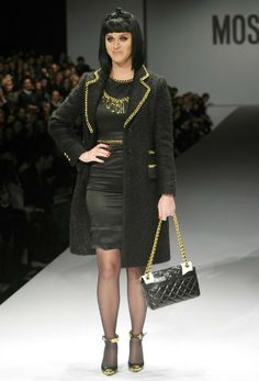 Katy Perry in Moschino's show in Milan Fashion Week