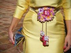 Resultado de imagen de cinturones flores fiesta