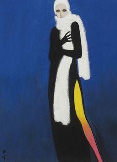 By René Gruau, 1970, 'Ready for winter', International textiles.