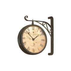 Bassett Mirror Old World Victorian RR Wall Clock (£125) ❤ liked on Polyvore featuring home, home decor, clocks, blue wall clock, blue clock, blue home decor and basset mirror company