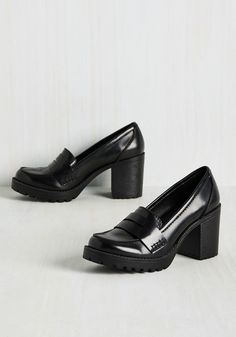 Loafer and Done With Block Heel