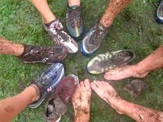 cross country leave your shoe in the mud ... Unless its the one with the chip on it then pick it up and keep running