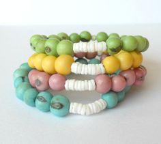 Acai Seed Bracelets / Choose Your Colour by theblackstarboutique, $18.00