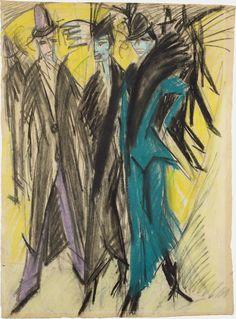Ernst Ludwig Kirchner - Berliner Strassenszene (1914)