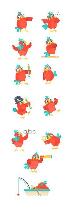 Parrot character design sheet ~ Hanimator 2015                                                                                                                                                                                 More