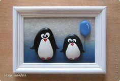 Поделка изделие День рождения Роспись Пингвины в доме Клей Материал природный фото 1