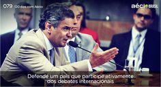 Nossos governantes precisam discutir e manter boas relações políticos com outros países. #120DiascomAecio #ParaMudarOBrasil #AecioNeves