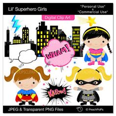 Decorations: Girls can be superheroes too! Cut and paste these cute, adorable clip art decorations for the little girls in your class. Learning has never been this action-packed!