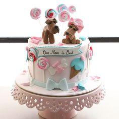 Zeynep Yumlu @mutludukkan Bir airedale terr...Instagram photo | Websta (Webstagram) Dog Cakes, Girl Cakes, Cake & Co, Cake Art, Beautiful Cakes, Amazing Cakes, Ice Cream Cone Cake, Pastry Art, Sugar Cake