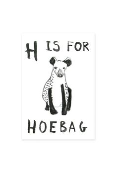 Ohh Deer Hoebag Card at Urban Outfitters