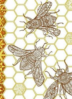 Bee Free is always good! Bee Free, Motif Vintage, Vintage Bee, Free Pattern Download, I Love Bees, Bee Crafts, Bee Happy, Bees Knees, Queen Bees