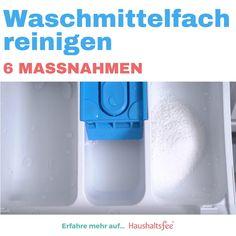 Die Waschmittelschublade ist von Waschpulver und Weichspülerresten verklebt? Tipps zum Waschmittelfach reinigen. #Spülmaschine #Dampfsauger #Essig #Zitronensäure #Zahnbürste #Chlorreiniger #Haushaltsfee