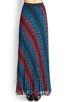 Pleated Woven Maxi Skirt | FOREVER 21 - 2000062372